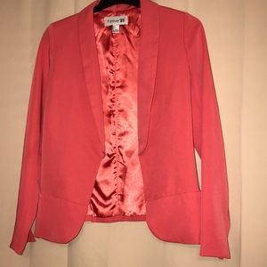 Women's Coral Forever 21 Blazer